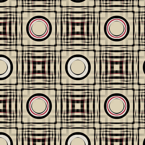 Gingham World (India Ink) fabric by david_kent_collections on Spoonflower - custom fabric