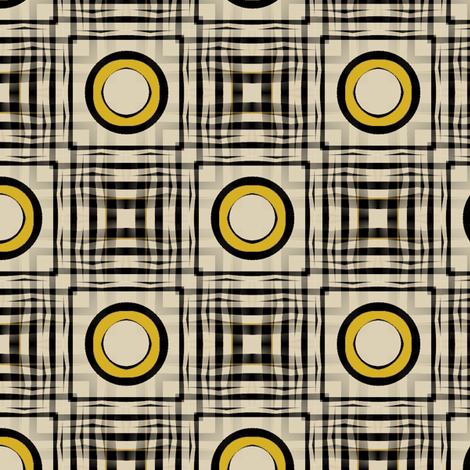 Gingham World (Mustard) fabric by david_kent_collections on Spoonflower - custom fabric
