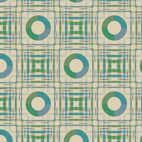 Gingham World (Pastel) fabric by david_kent_collections on Spoonflower - custom fabric