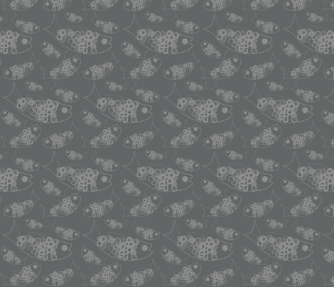 Chicken of the Sea fabric by garwooddesigns on Spoonflower - custom fabric