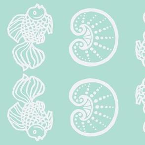 Fish & Shells Aqua