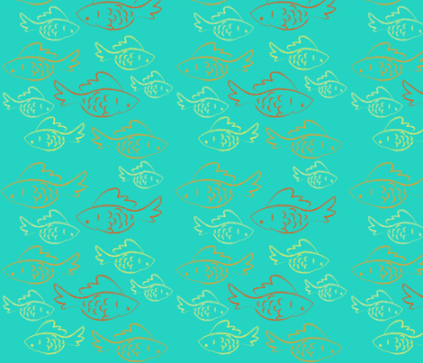 Doodle Fishies 2 fabric by garwooddesigns on Spoonflower - custom fabric