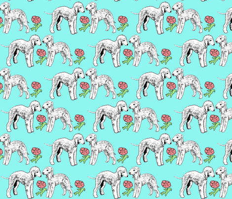 The Bedlington Terrier fabric by dogdaze_ on Spoonflower - custom fabric