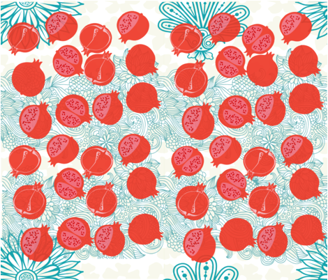 PRETTY IN POMEGRANATE fabric by deeniespoonflower on Spoonflower - custom fabric