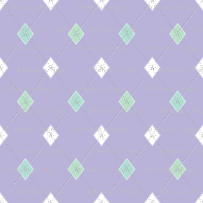 Mini Argyle: Lavender, Seaglass, White