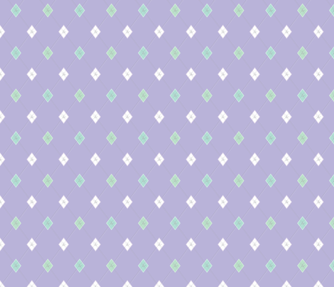 Mini Argyle: Lavender, Seaglass, White fabric by penina on Spoonflower - custom fabric