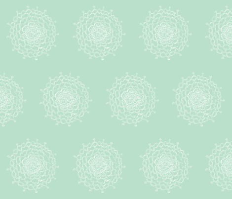 Seaglass Chrysanthemum fabric by penina on Spoonflower - custom fabric