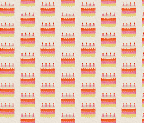 HAPPY CAKE fabric by glorydaze on Spoonflower - custom fabric