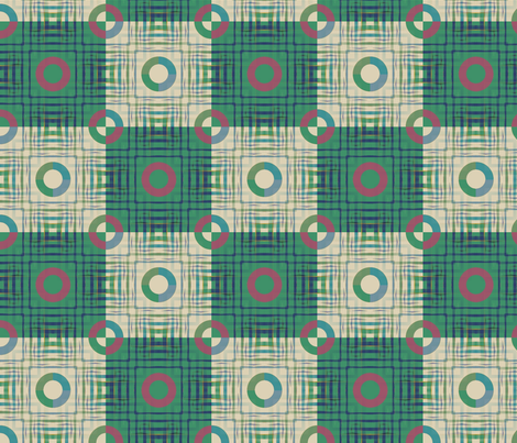 Gingham World (Checkerboard Green) fabric by david_kent_collections on Spoonflower - custom fabric