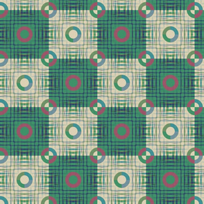 Gingham World (Checkerboard Green)