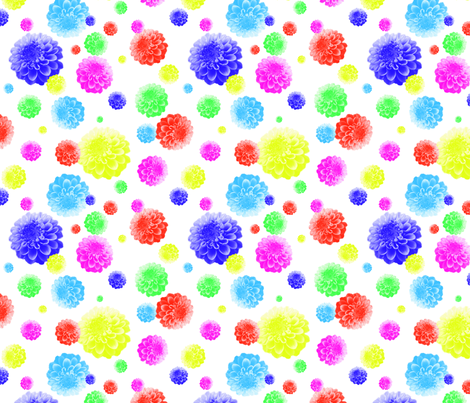 Dahlia inspired by Party Balloons fabric by karacake on Spoonflower - custom fabric