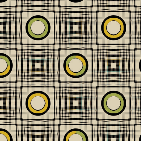 Gingham World (Mustard and Chartreuse) fabric by david_kent_collections on Spoonflower - custom fabric