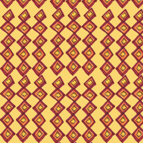 French_Pom_Check_Pattern_on_Mustard_2a