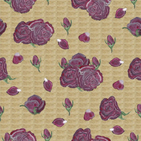 Retro Cocktail Roses fabric by brandymiller on Spoonflower - custom fabric