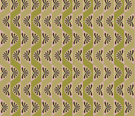 Caladia (Greens) fabric by david_kent_collections on Spoonflower - custom fabric