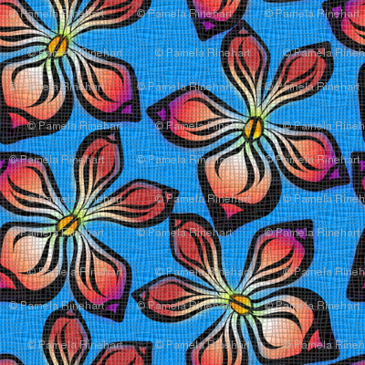 ORCHID_WEAVE on blue