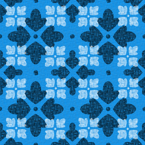 BLUE_FLORAL_WEAVE fabric by glimmericks on Spoonflower - custom fabric