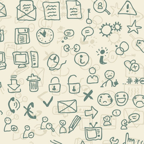 seamless media icons pattern