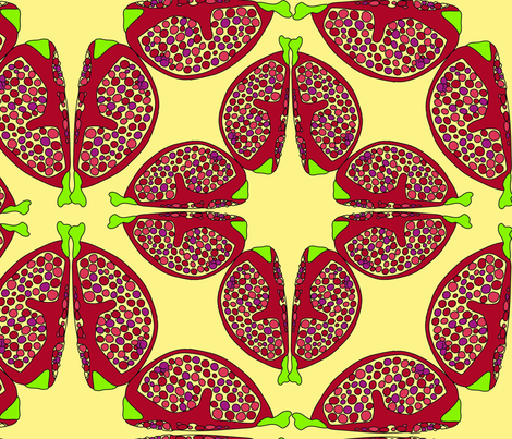 pomegranates fabric by helvoi on Spoonflower - custom fabric