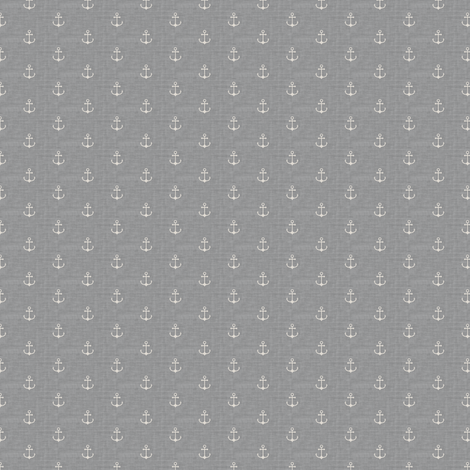 Anchor - Off white Light Gray Texture (S) fabric by kimsa on Spoonflower - custom fabric