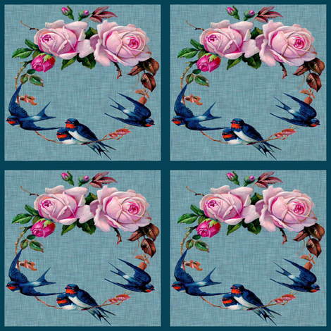 Birdy patches fabric by glanoramay on Spoonflower - custom fabric