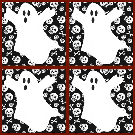 ghostie tags/patches fabric by glanoramay on Spoonflower - custom fabric