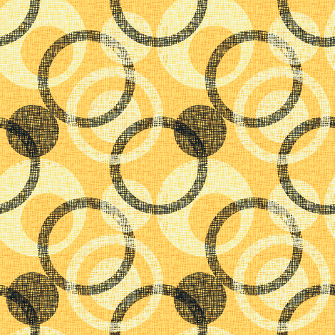 CIRCLE_WEAVE citrus fabric by glimmericks on Spoonflower - custom fabric