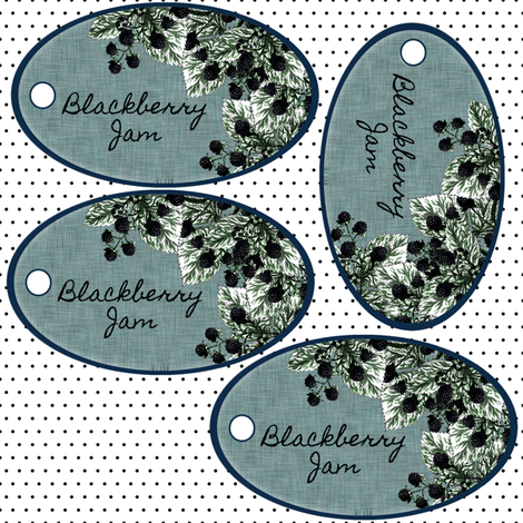 BlackBerry Jam tags fabric by glanoramay on Spoonflower - custom fabric