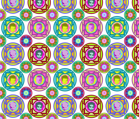 mandala babes fabric by cairocraft on Spoonflower - custom fabric