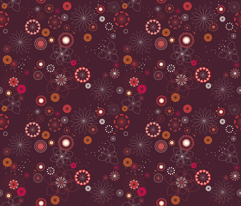 Flowers fabric by kimsa on Spoonflower - custom fabric