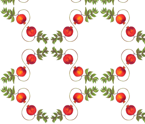 Pomegranates_classic fabric by the_pear_trees on Spoonflower - custom fabric