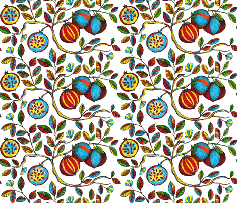 Pomegranate fabric by estrella_de_anis on Spoonflower - custom fabric