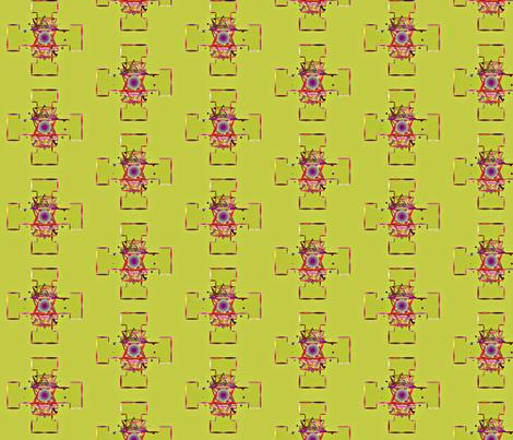 Mandala_On__Green fabric by patsijean on Spoonflower - custom fabric