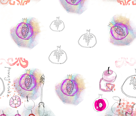 Pomegranate_Rep_B fabric by sandieg on Spoonflower - custom fabric