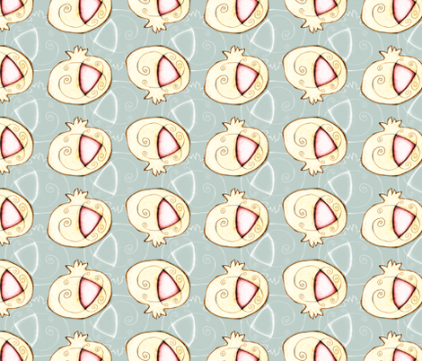 Granadas mágicas -Magic pomegranates fabric by gemmacreativa on Spoonflower - custom fabric