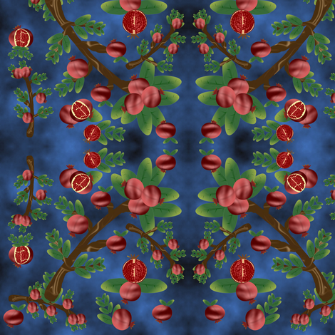 pomegranate_treasure fabric by anino on Spoonflower - custom fabric