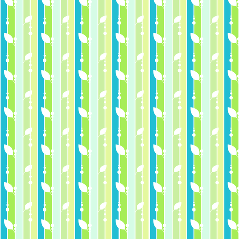 Leafydotty Striped - A Simple Wish  - © PinkSodaPop 4ComputerHeaven.com fabric by pinksodapop on Spoonflower - custom fabric