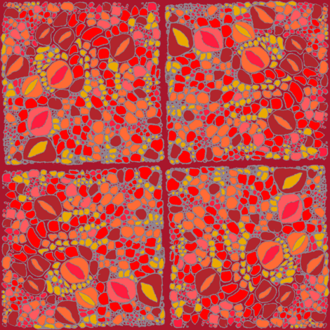 pomegranate patch fabric by wednesdaysgirl on Spoonflower - custom fabric