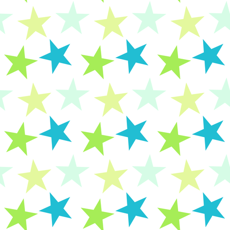 Big Stars - A Simple Wish -  © PinkSodaPop 4ComputerHeaven.com fabric by pinksodapop on Spoonflower - custom fabric