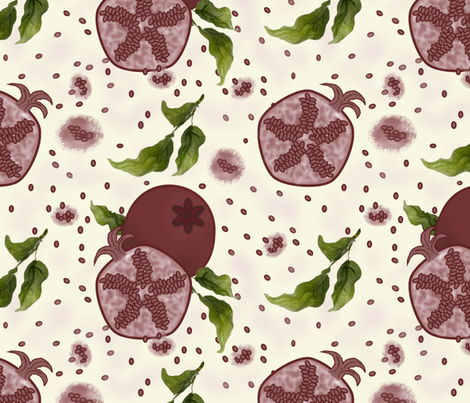 Pomegranate fabric by jabiroo on Spoonflower - custom fabric