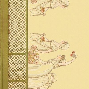 Kate Greenaway Halloooo! Border Print ~ Language of the Flowers
