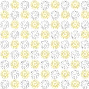 lemon and gray flower wheels