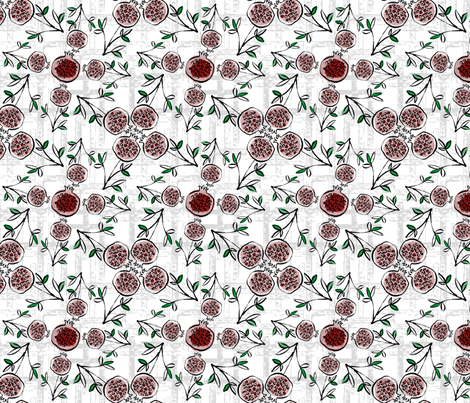 Ditsy_Pomegranate fabric by positivenegative on Spoonflower - custom fabric
