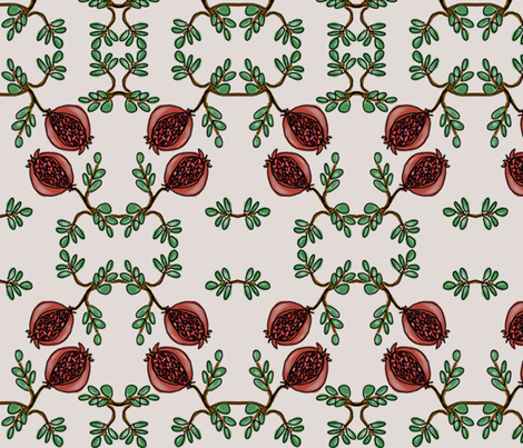 pomegranatecontest fabric by kenkayla on Spoonflower - custom fabric