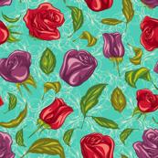 Floral Aqua Toss