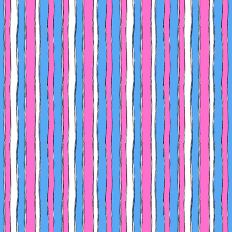 Kitty Hearts: Stripes fabric by tallulahdahling on Spoonflower - custom fabric