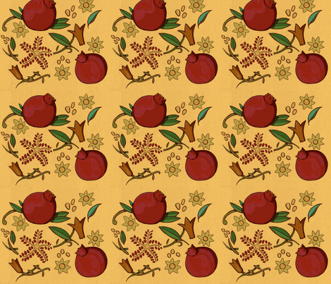 pomegranates fabric by mightypigeon on Spoonflower - custom fabric