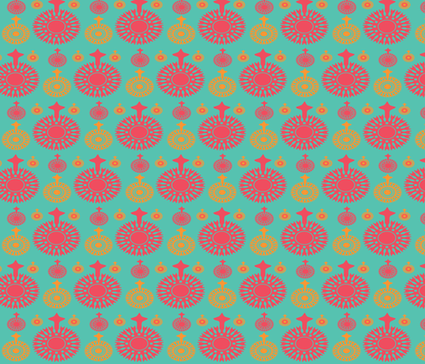 pomegranate trio fabric by adrianne_nicole on Spoonflower - custom fabric