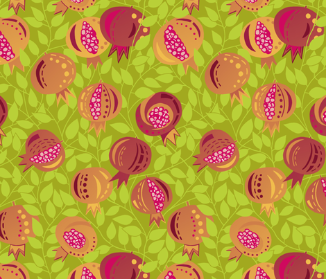 pommegranate tree fabric by uzumakijo on Spoonflower - custom fabric
