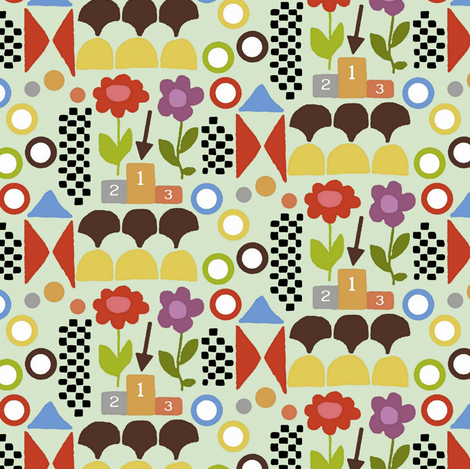 123  fabric by scrummy on Spoonflower - custom fabric